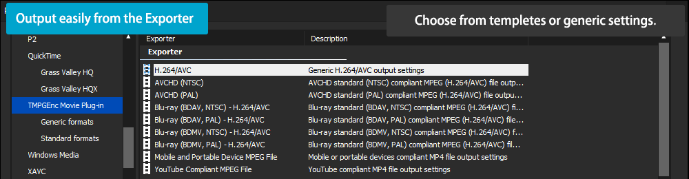TMPGEnc Movie Plug-in AVC for EDIUS Pro 9