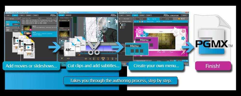 TMPGEnc PGMX™ CREATOR - Video, Subtitles, Slideshows and